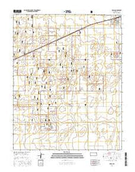 Rolla Kansas Current topographic map, 1:24000 scale, 7.5 X 7.5 Minute, Year 2016