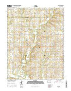 Rollin Kansas Current topographic map, 1:24000 scale, 7.5 X 7.5 Minute, Year 2015 from Kansas Map Store