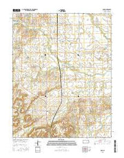 Rose Kansas Current topographic map, 1:24000 scale, 7.5 X 7.5 Minute, Year 2015 from Kansas Maps Store