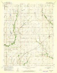 Rose Hill Kansas Historical topographic map, 1:24000 scale, 7.5 X 7.5 Minute, Year 1960