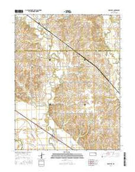 Rossville Kansas Current topographic map, 1:24000 scale, 7.5 X 7.5 Minute, Year 2016
