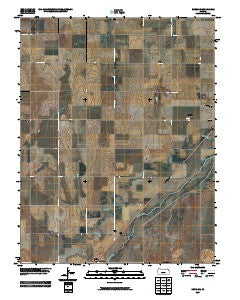 Rozel SE Kansas Historical topographic map, 1:24000 scale, 7.5 X 7.5 Minute, Year 2009