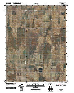 Rozel SW Kansas Historical topographic map, 1:24000 scale, 7.5 X 7.5 Minute, Year 2009
