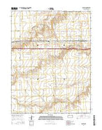 Ruleton Kansas Current topographic map, 1:24000 scale, 7.5 X 7.5 Minute, Year 2015 from Kansas Map Store