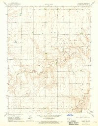 Ruleton NE Kansas Historical topographic map, 1:24000 scale, 7.5 X 7.5 Minute, Year 1966