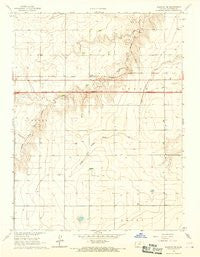 Ruleton SE Kansas Historical topographic map, 1:24000 scale, 7.5 X 7.5 Minute, Year 1966