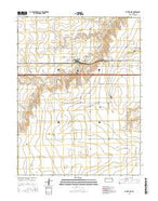 Ruleton SE Kansas Current topographic map, 1:24000 scale, 7.5 X 7.5 Minute, Year 2015 from Kansas Map Store