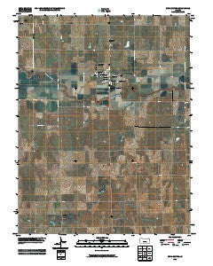 Rush Center Kansas Historical topographic map, 1:24000 scale, 7.5 X 7.5 Minute, Year 2009