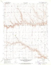 Russell Springs 3 NE Kansas Historical topographic map, 1:24000 scale, 7.5 X 7.5 Minute, Year 1968