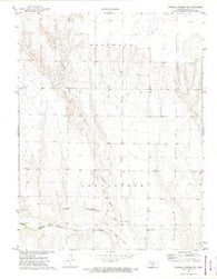Russell Springs NE Kansas Historical topographic map, 1:24000 scale, 7.5 X 7.5 Minute, Year 1972