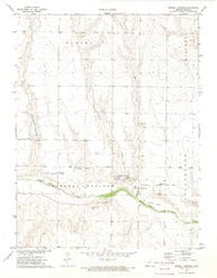 Russell Springs Kansas Historical topographic map, 1:24000 scale, 7.5 X 7.5 Minute, Year 1972