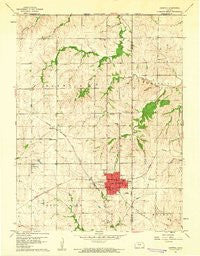 Sabetha Kansas Historical topographic map, 1:24000 scale, 7.5 X 7.5 Minute, Year 1960