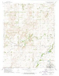 Saint John North Kansas Historical topographic map, 1:24000 scale, 7.5 X 7.5 Minute, Year 1972