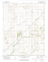 Saint John SW Kansas Historical topographic map, 1:24000 scale, 7.5 X 7.5 Minute, Year 1972