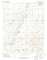 Saint John South Kansas Historical topographic map, 1:24000 scale, 7.5 X 7.5 Minute, Year 1972