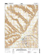 Saint Francis Kansas Current topographic map, 1:24000 scale, 7.5 X 7.5 Minute, Year 2015 from Kansas Map Store