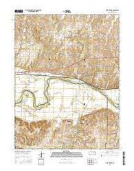 Saint George Kansas Current topographic map, 1:24000 scale, 7.5 X 7.5 Minute, Year 2016