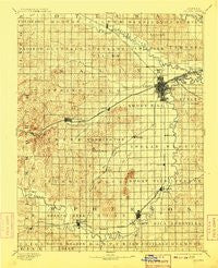 Salina Kansas Historical topographic map, 1:125000 scale, 30 X 30 Minute, Year 1892