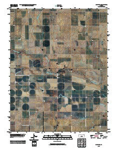 Sanford Kansas Historical topographic map, 1:24000 scale, 7.5 X 7.5 Minute, Year 2009