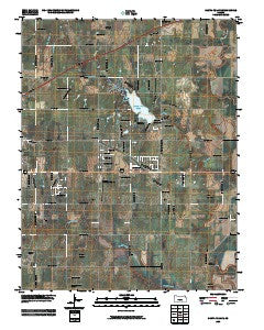 Santa Fe Lake Kansas Historical topographic map, 1:24000 scale, 7.5 X 7.5 Minute, Year 2009