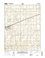 Satanta Kansas Current topographic map, 1:24000 scale, 7.5 X 7.5 Minute, Year 2016 from Kansas Map Store