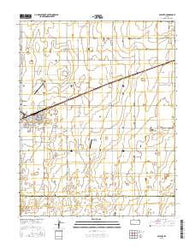 Satanta Kansas Current topographic map, 1:24000 scale, 7.5 X 7.5 Minute, Year 2016