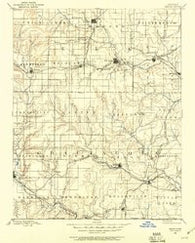 Sedan Kansas Historical topographic map, 1:125000 scale, 30 X 30 Minute, Year 1885