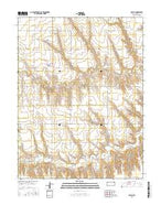 Seguin Kansas Current topographic map, 1:24000 scale, 7.5 X 7.5 Minute, Year 2015 from Kansas Map Store