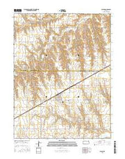 Selden Kansas Current topographic map, 1:24000 scale, 7.5 X 7.5 Minute, Year 2015 from Kansas Maps Store