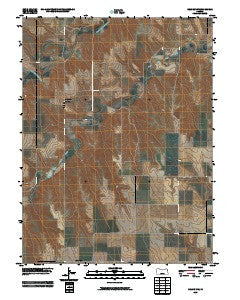 Selden NW Kansas Historical topographic map, 1:24000 scale, 7.5 X 7.5 Minute, Year 2009
