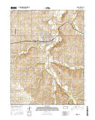 Seneca Kansas Current topographic map, 1:24000 scale, 7.5 X 7.5 Minute, Year 2016