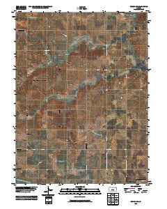 Seneca NW Kansas Historical topographic map, 1:24000 scale, 7.5 X 7.5 Minute, Year 2009