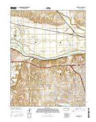 Silver Lake Kansas Current topographic map, 1:24000 scale, 7.5 X 7.5 Minute, Year 2016