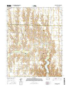 Simmons Creek Kansas Current topographic map, 1:24000 scale, 7.5 X 7.5 Minute, Year 2016