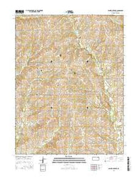 Soldier Creek SE Kansas Current topographic map, 1:24000 scale, 7.5 X 7.5 Minute, Year 2016