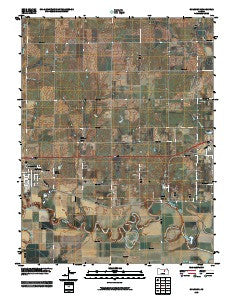 Solomon Kansas Historical topographic map, 1:24000 scale, 7.5 X 7.5 Minute, Year 2009