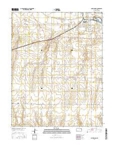 South Dodge Kansas Current topographic map, 1:24000 scale, 7.5 X 7.5 Minute, Year 2016