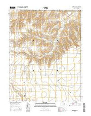 South Flats Kansas Current topographic map, 1:24000 scale, 7.5 X 7.5 Minute, Year 2015 from Kansas Maps Store