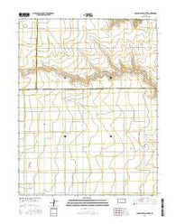 South of Twin Butte Kansas Current topographic map, 1:24000 scale, 7.5 X 7.5 Minute, Year 2016