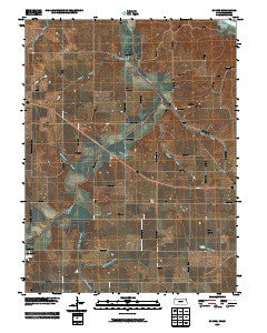 Sparks Kansas Historical topographic map, 1:24000 scale, 7.5 X 7.5 Minute, Year 2009