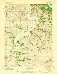 Sparks Kansas Historical topographic map, 1:24000 scale, 7.5 X 7.5 Minute, Year 1959