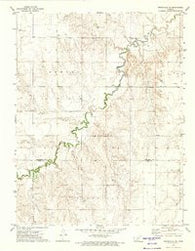 Spearville NE Kansas Historical topographic map, 1:24000 scale, 7.5 X 7.5 Minute, Year 1972