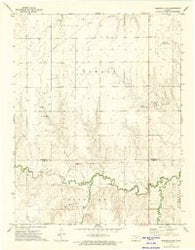 Spearville NW Kansas Historical topographic map, 1:24000 scale, 7.5 X 7.5 Minute, Year 1972