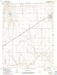 Spearville Kansas Historical topographic map, 1:24000 scale, 7.5 X 7.5 Minute, Year 1972