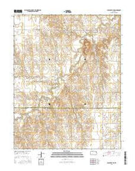 Spearville NE Kansas Current topographic map, 1:24000 scale, 7.5 X 7.5 Minute, Year 2016