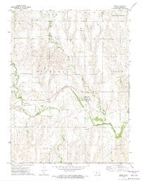 Speed Kansas Historical topographic map, 1:24000 scale, 7.5 X 7.5 Minute, Year 1972