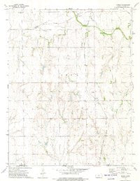Spring Kansas Historical topographic map, 1:24000 scale, 7.5 X 7.5 Minute, Year 1972