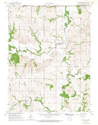 St Benedict Kansas Historical topographic map, 1:24000 scale, 7.5 X 7.5 Minute, Year 1966