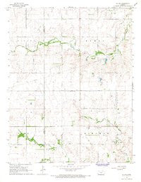 St Leo Kansas Historical topographic map, 1:24000 scale, 7.5 X 7.5 Minute, Year 1966