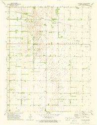 Stafford NW Kansas Historical topographic map, 1:24000 scale, 7.5 X 7.5 Minute, Year 1972